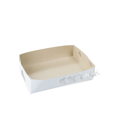 Shamrock Cake Tray #20 White/Brown 175x125x42