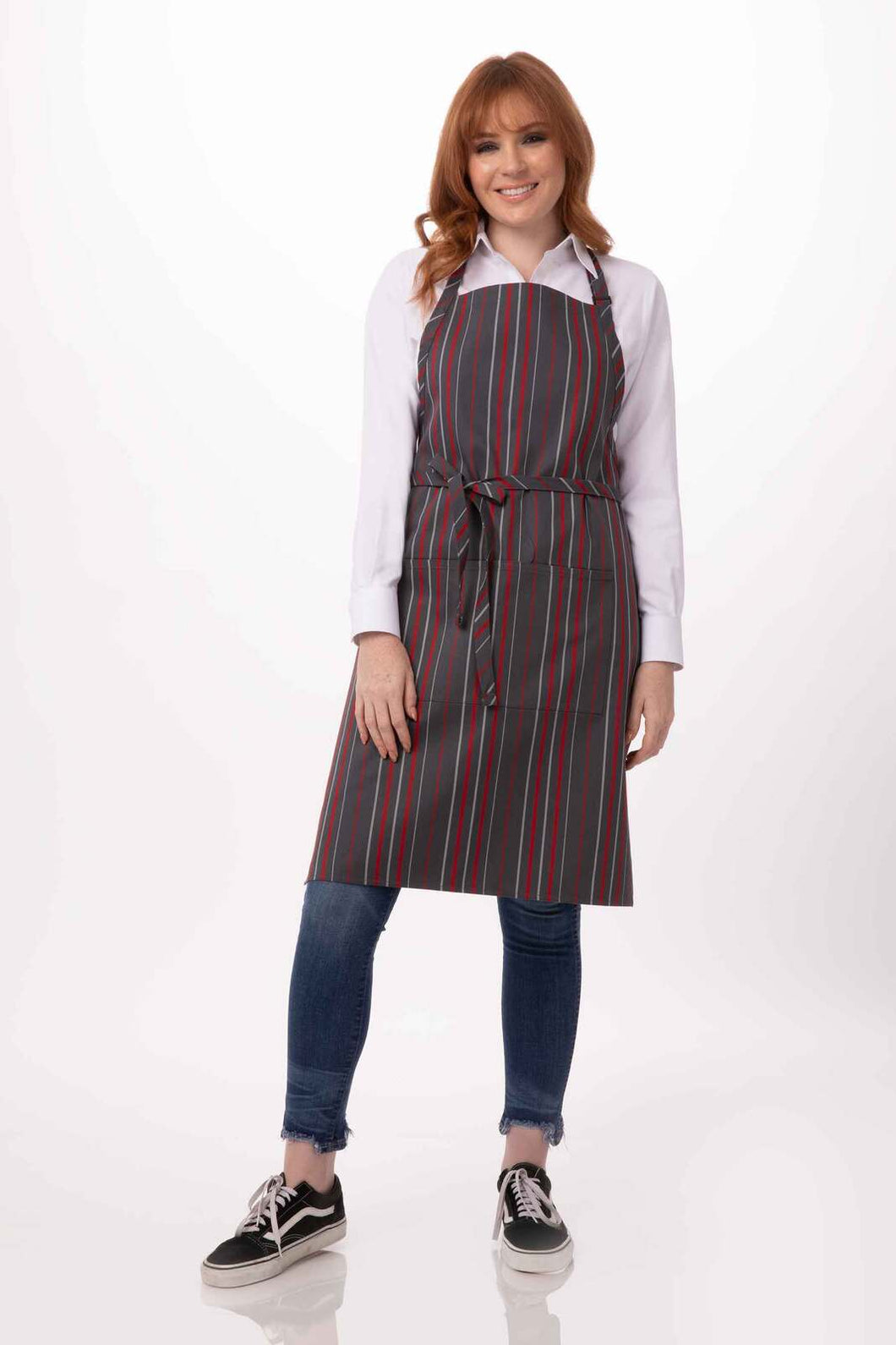 ADJUSTABLE STRIPED BIB APRON