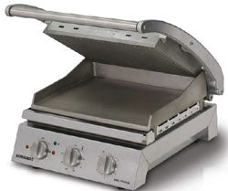 Roband 6 Slice Grill Station with Smooth Plates Non Stick -10amp