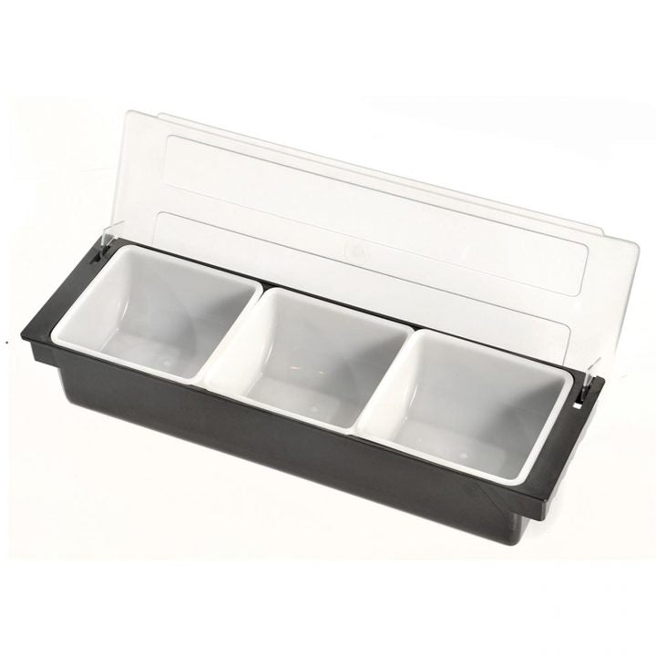 Bar Condiment Dispenser 3 Compartment