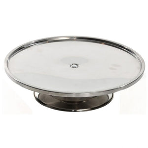 Cake Stand Low Stainless Steel