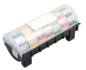 "Vogue Removable Colour Coded Food Labels with 1"" Dispenser"