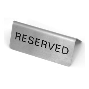 Reserved Sign A-Frame / Tent Stainless Steel