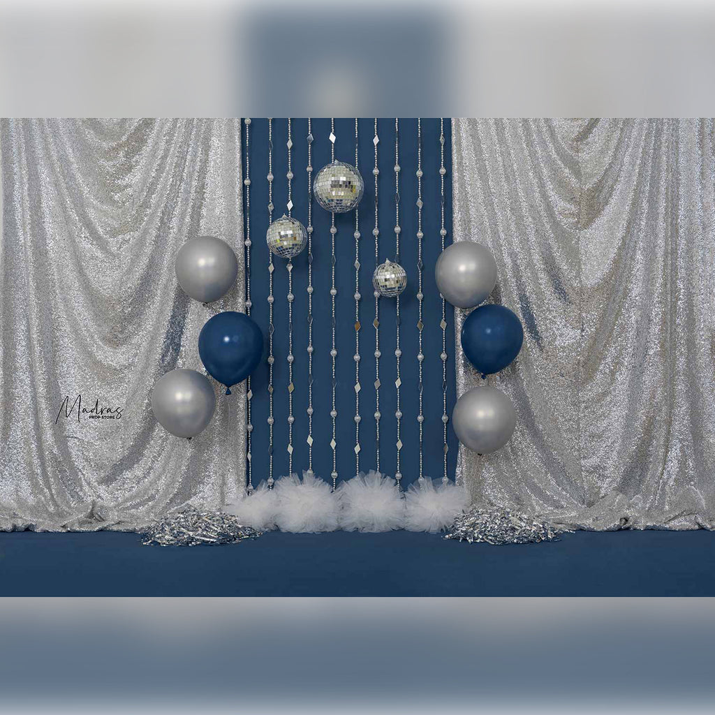 Blueberry Party Pops - Printed Backdrop - 5 by 6 feet