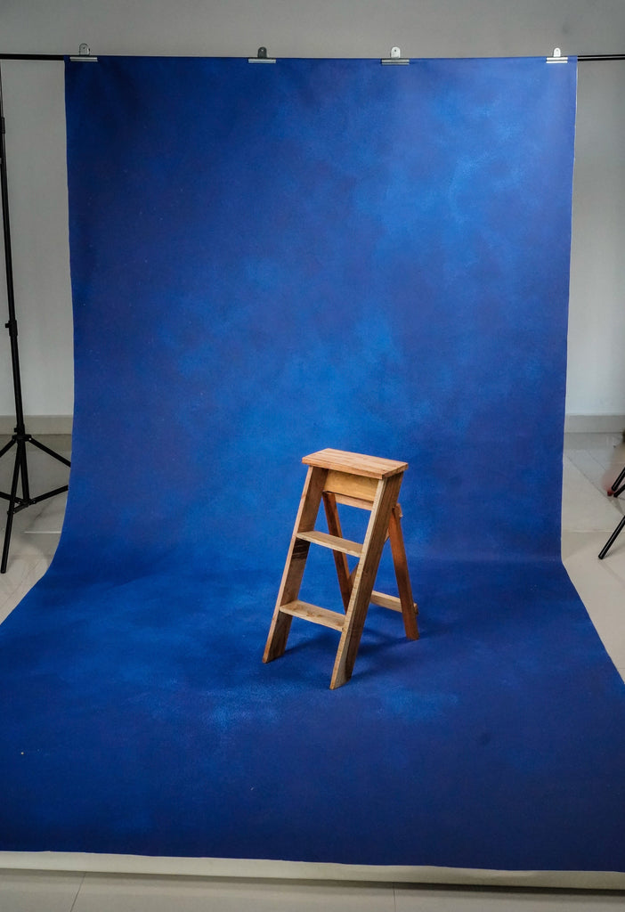 Blue Wall Canvas - Painted Fashion Backdrops