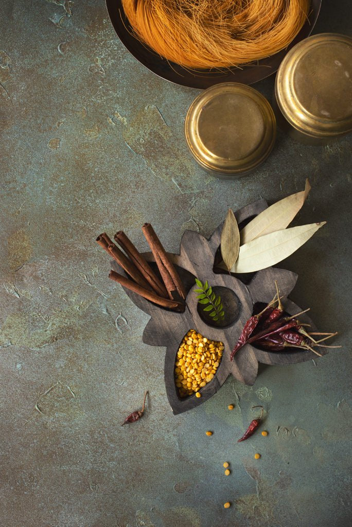 Rustic Wooden Spice Tray