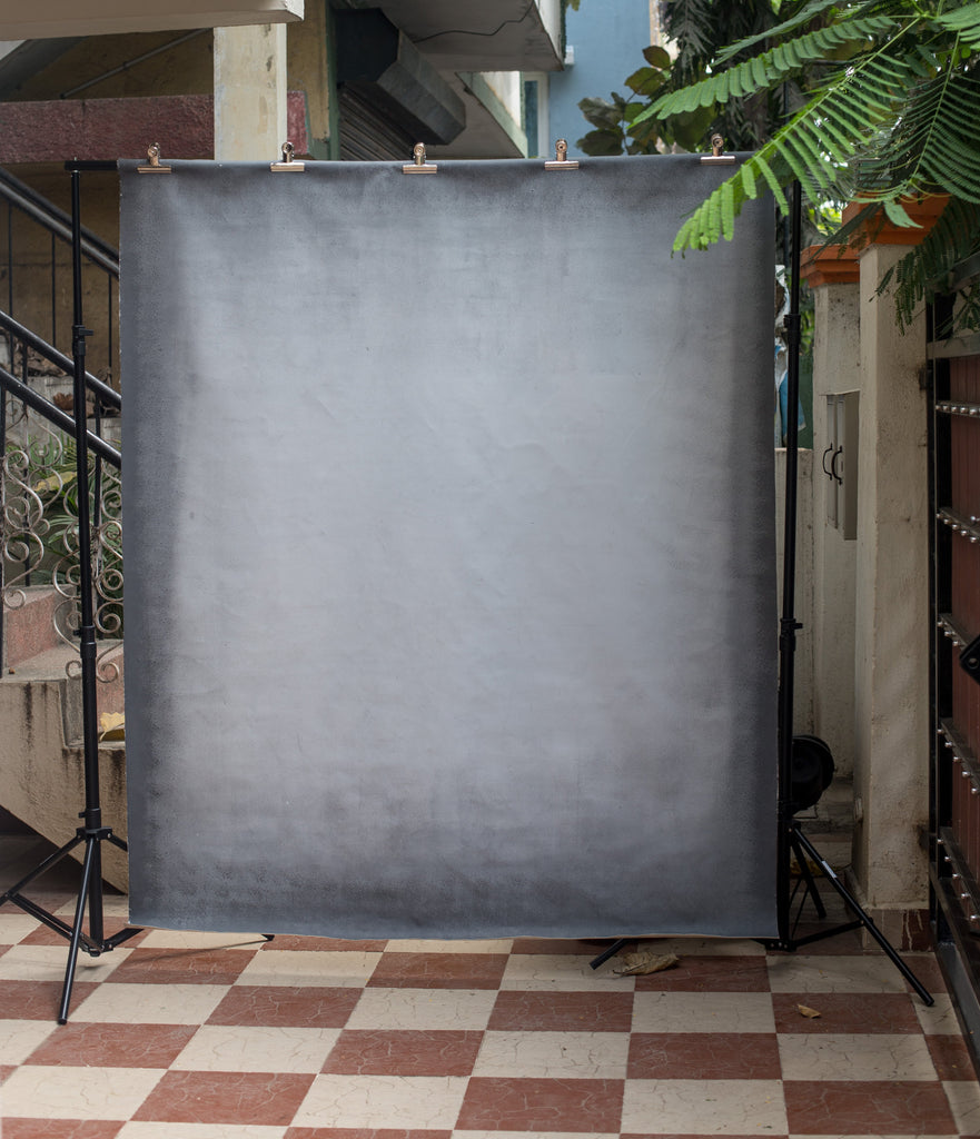 Grey Canvas - Baby Pained Backdrops