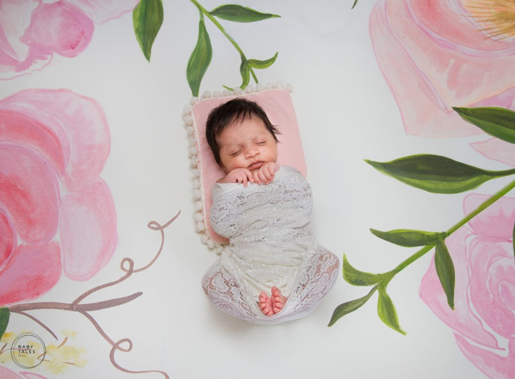 Hand Painted Floral - Baby Painted Backdrop