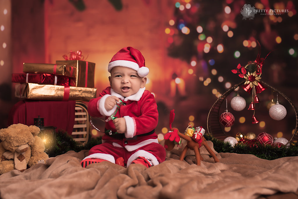 Xmas Bokeh - Baby Printed Backdrops