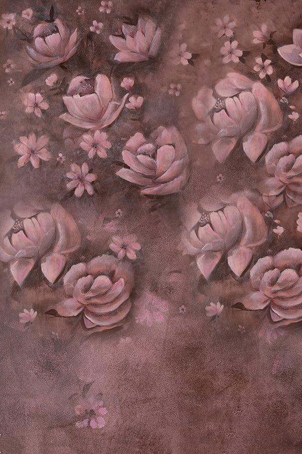 Mauve Floral - Maternity Backdrops