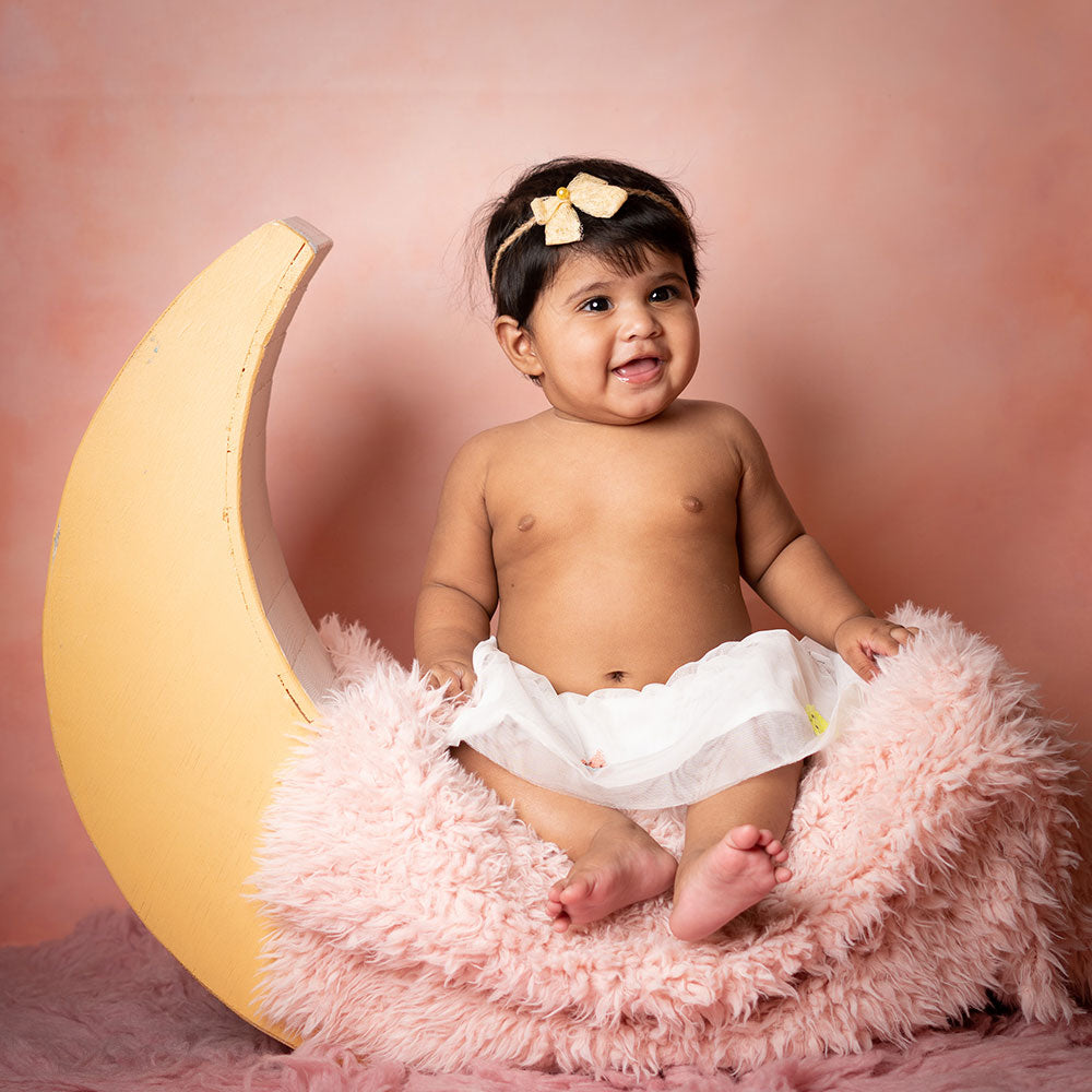 Peachy Pink Canvas - Baby Painted Backdrops