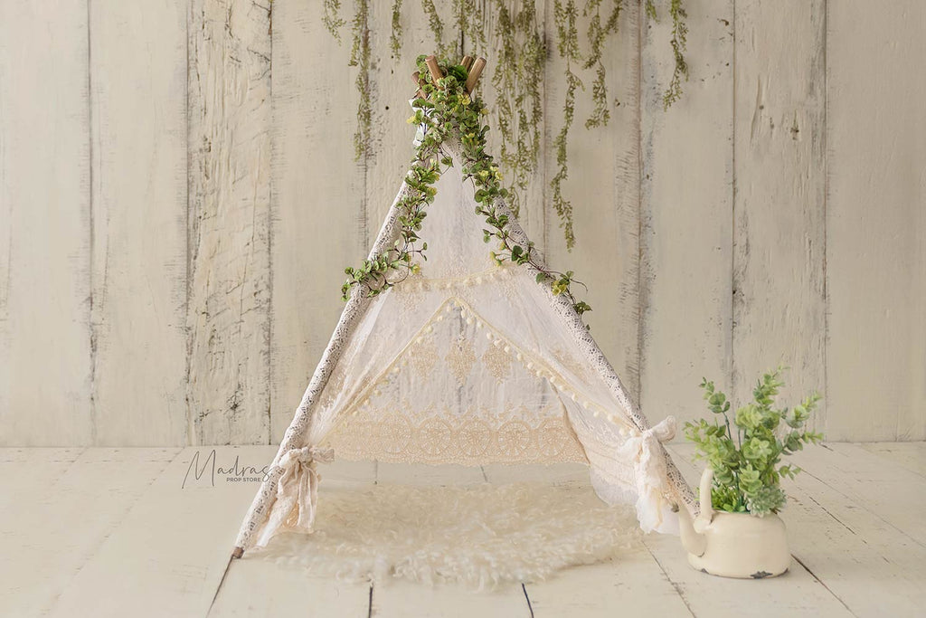 Cream Princess Teepee Tent