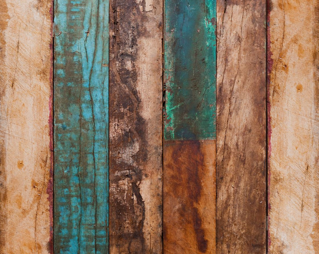 Colourful Planks - Baby Printed Backdrops