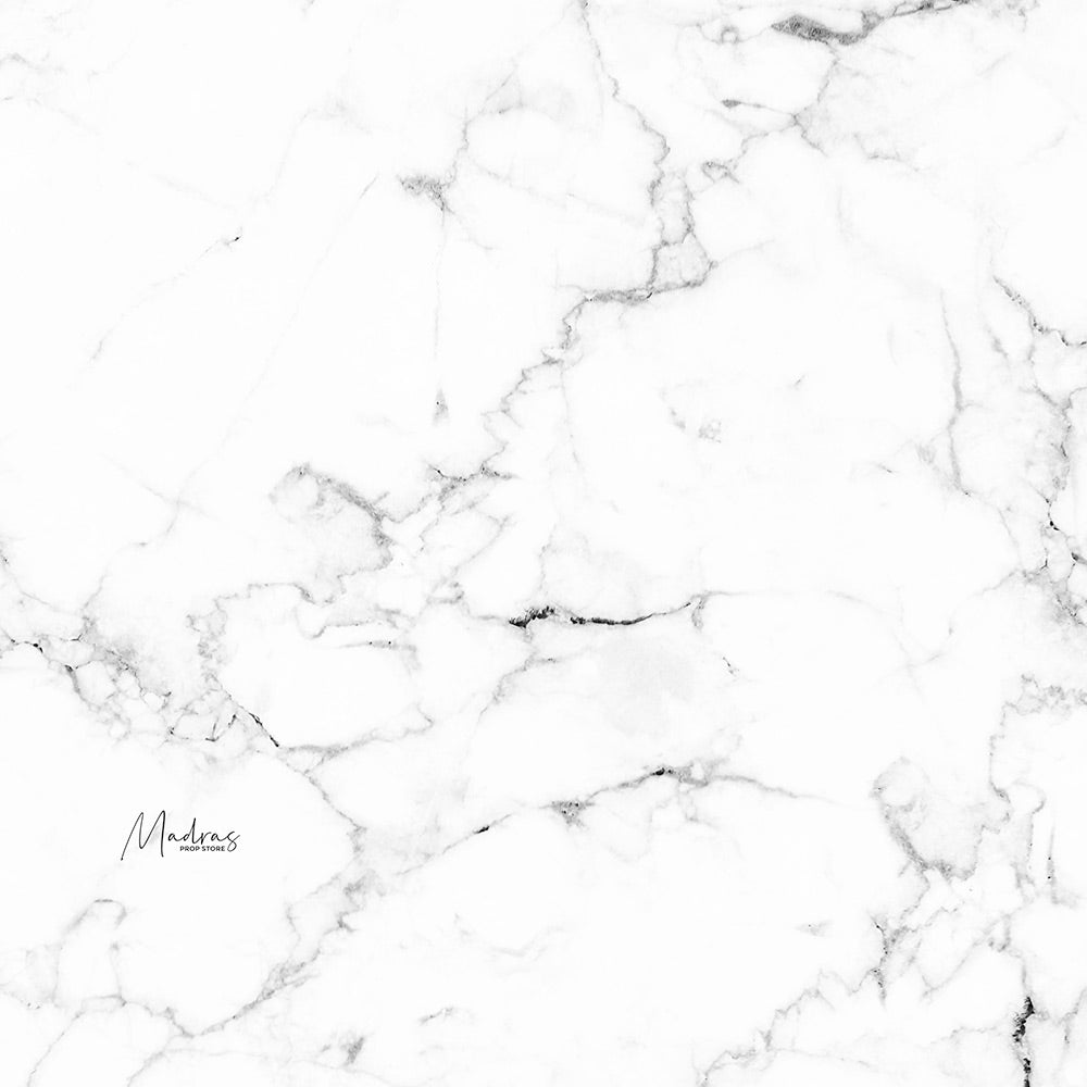 Greyish White Marble - Baby Printed Backdrops