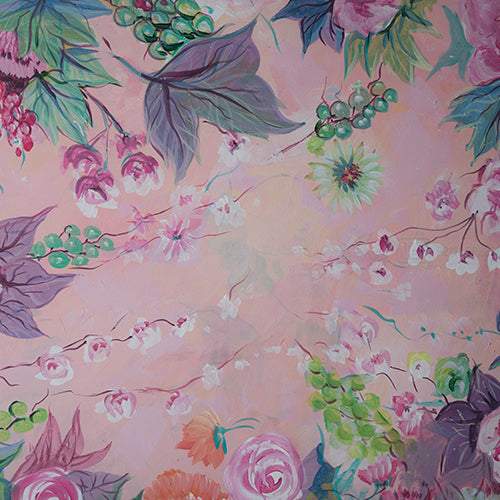 Wine Floral - Baby Printed Backdrops