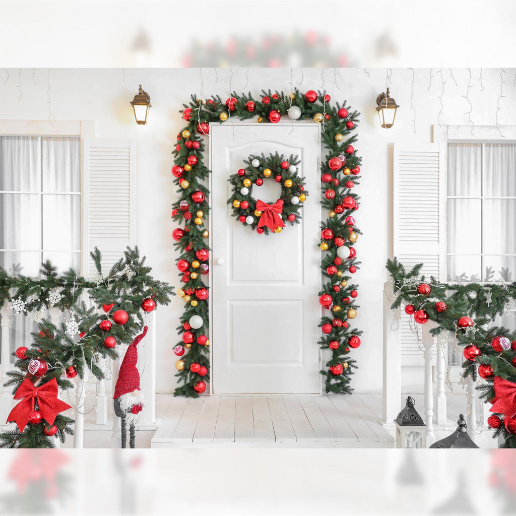 Xmas Doorway - Baby Printed Backdrops
