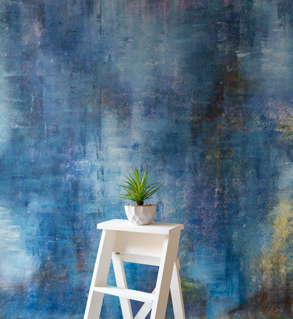 Distressed Blue Wall Canvas - Baby Painted Backdrops