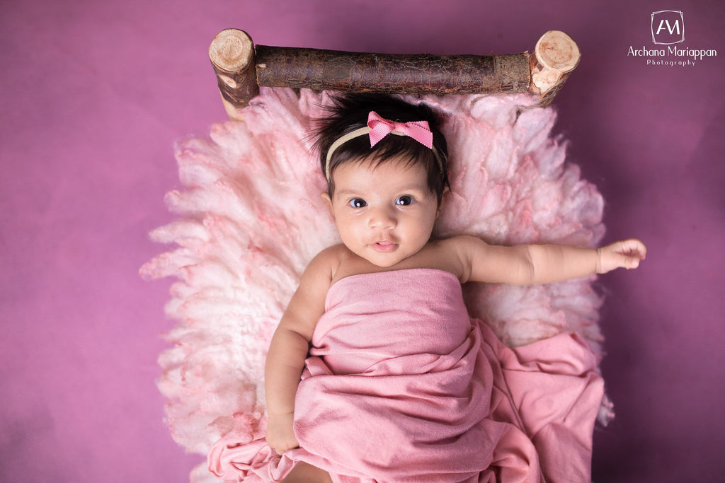 Mauve Canvas - Baby Painted Backdrops
