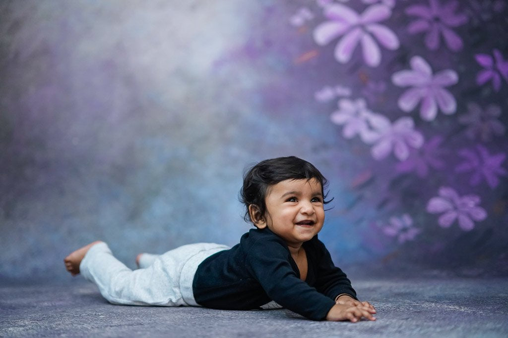 Floral Spray - Baby Printed Backdrops