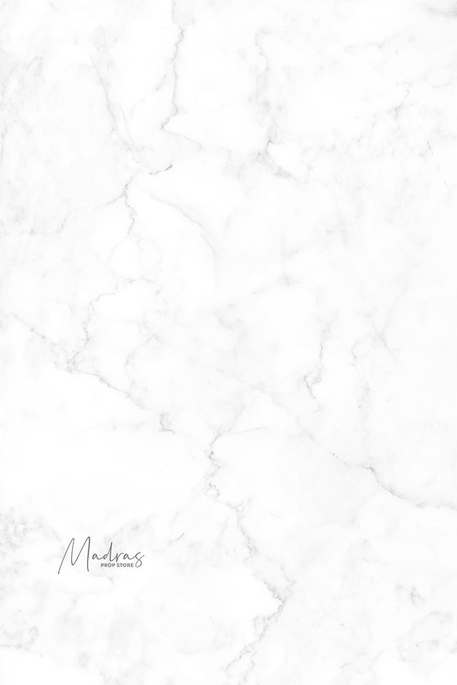 White Marble - Printed Food Backdrops