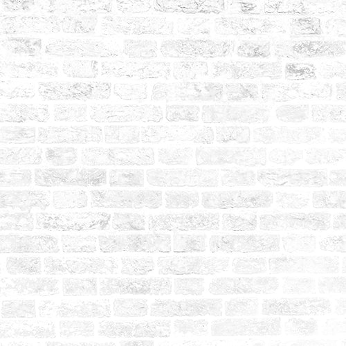 White and Grey Brick Wall - Baby Printed Backdrops
