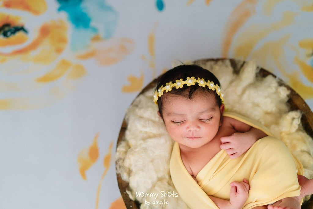 Yellow Roses - Baby Printed Backdrops