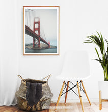 Load image into Gallery viewer, San-Francisco Golden Gate Water Level Poster Natural Colors
