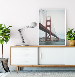 San-Francisco Golden Gate Water Level Poster Natural Colors