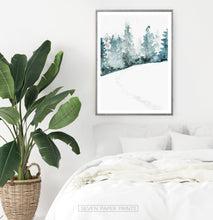 Load image into Gallery viewer, Gray-Framed On White Bedroom Wall