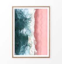 Load image into Gallery viewer, Top view of the Pink Ocean Beach Photography