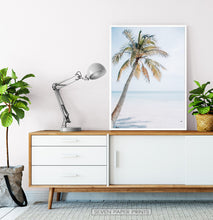 Load image into Gallery viewer, Coastal Palm Tree and Blue Sky. Tropical Print