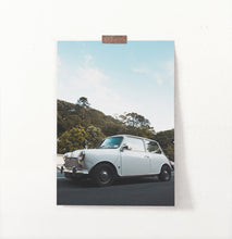 Load image into Gallery viewer, White Vintage Car Travel Wall Art