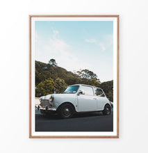 Load image into Gallery viewer, White Retro Car California Travel Photography