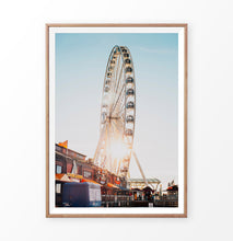 Load image into Gallery viewer, Ferris Wheel on the Sunset Travel Photography