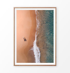 Aerial Ocean Photography Wall Decor