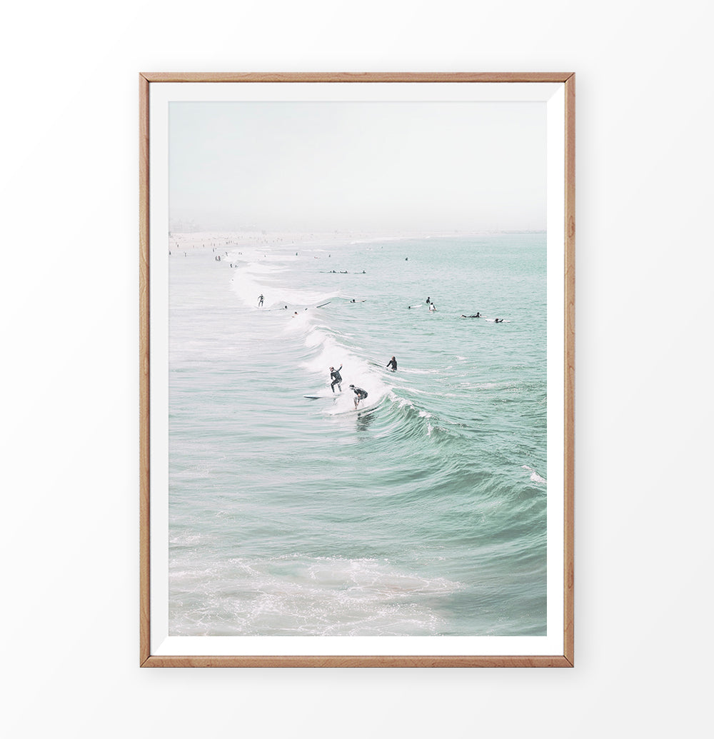 Surfing Wall Art Print. Summer Decor
