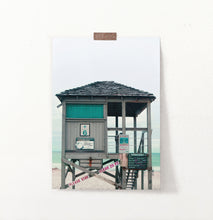 Load image into Gallery viewer, Turquoise Lifeguard Tower Wall Art