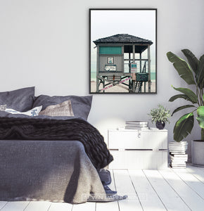 Turquoise Lifeguard Tower Wall Art