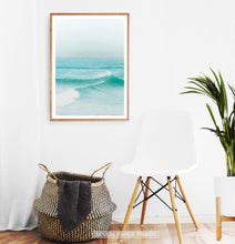 Load image into Gallery viewer, Turquoise Ocean Waves Wall Art
