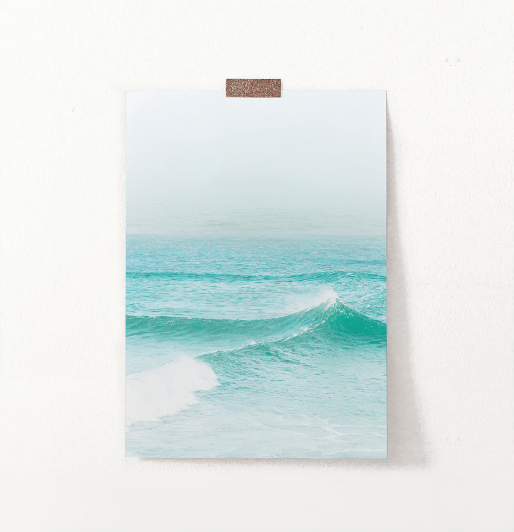 Turquoise Ocean Waves Wall Art