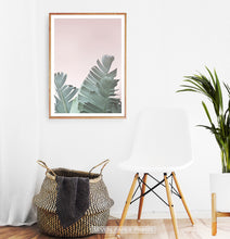 Load image into Gallery viewer, Tropical Leaves with Blush Pink Background