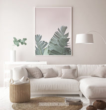Load image into Gallery viewer, Neutral Color Banana Leaf Print under Sofa