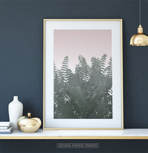 Load image into Gallery viewer, Palm Tree Leaves on Pink for Dark Walls