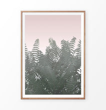 Load image into Gallery viewer, Green tropical plant faded pink photography