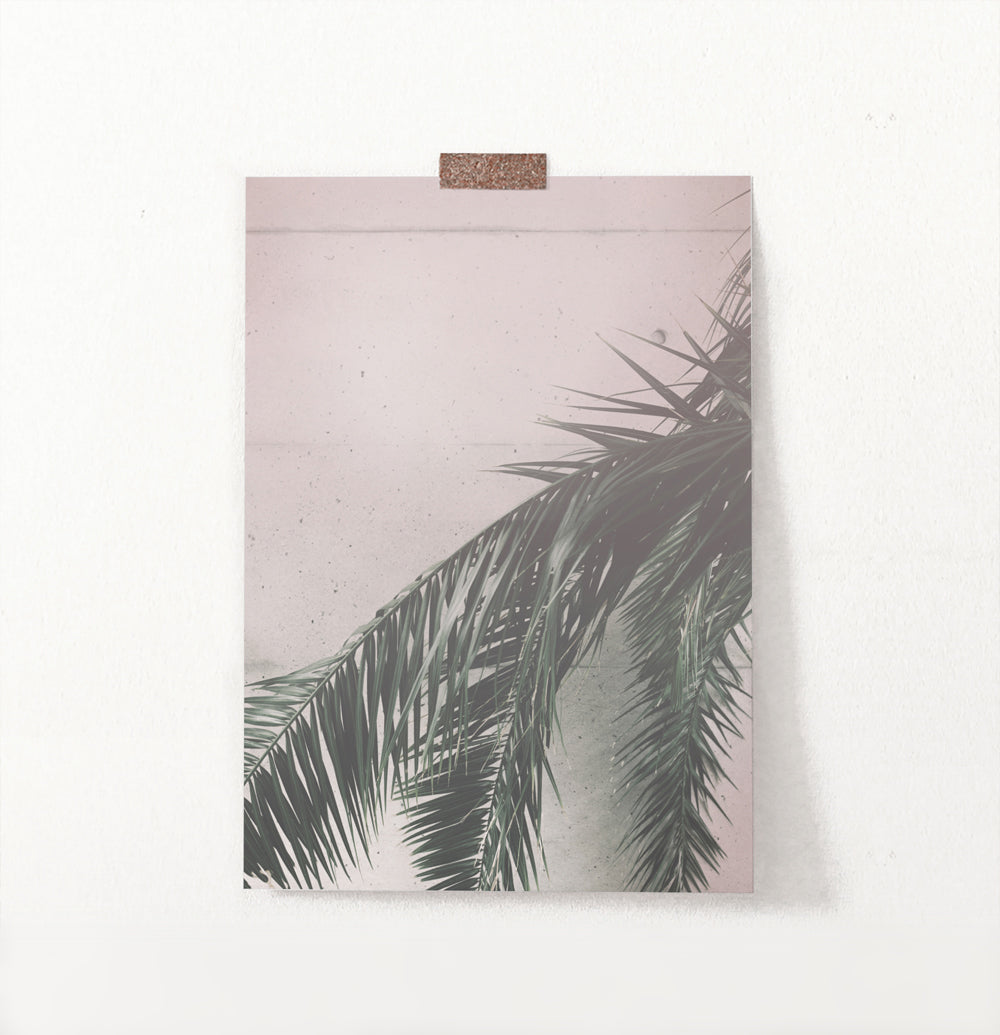 Retro Palm Tree Leaves Wall Art