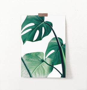 Monstera print, Monstera Leaf Wall Art