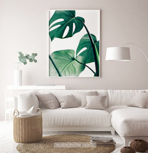 Extra Large Monstera Print for Living room