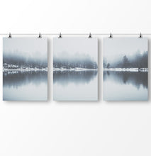 Load image into Gallery viewer, Lake house decor, lake reflection wall art, Forest prints, Modern minimalist landscape, Scandinavian wall art