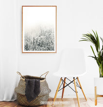 Load image into Gallery viewer, Wooden-framed Snowy Branches Spruce Forest Photo Wall Art