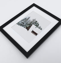 Load image into Gallery viewer, A photo print with a winter house